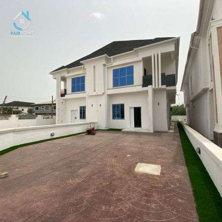 Deluxe 4 Bedroom Semi Detached Duplex With a Bq And a Smart Mini Swimming Pool For Sale At Ajah